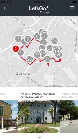 app let's go! Gorizia le nuove vie centro commerciale naturale